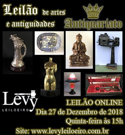 LEILÃO 1205 - 4º LEILÃO ANTIQUARIATO DE ARTES, ANTIGUIDADES E CURIOSIDADES