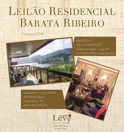 LEILÃO 1214 - LEILÃO RESIDENCIAL BARATA RIBEIRO