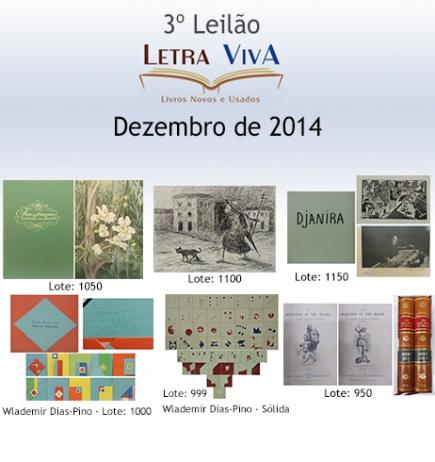 3º LEILÃO LETRA VIVA LIVROS, ARTE, COLECIONISMO, NUMISMÁTICA E OUTROS